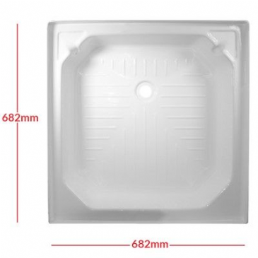 "Caravan/Motorhome PLASTIC SHOWER TRAY 27"" X 27"" WHITE"